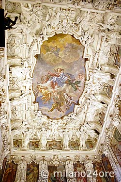 Fresco painting Assumption of the Virgin