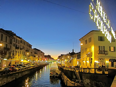 Nightlife at the Naviglio Grande