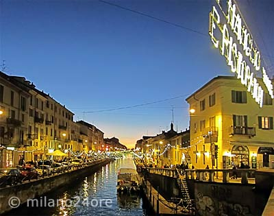 Evening atmosphere at the Naviglio Grande