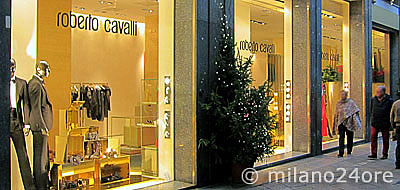 Fashion brands in the Milan fashion district