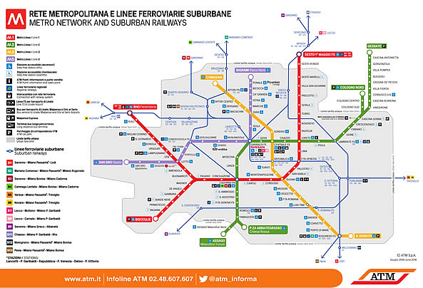 Milan Subway Map.Tickets And Prices For Metro And Public Transport In Milan Milan